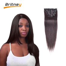 2016 Fashion Brazilian Hair Clip in Extension Virgin Natural Clip in Hair Extension Clip in Human Hair Extension for Black Women