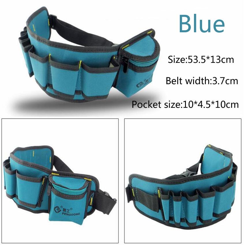 マルチカラー電気技師ツールベルト修理ポーチポケットツールウエストバッグ多機能防水大工オックスフォード布ツールバッグ
