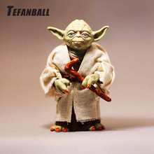 Car Ornament PVC Cute Decoration Doll For Star Wars Yoda Action Figure Model Automobile Interior Dashboard Toys Accessories Gift