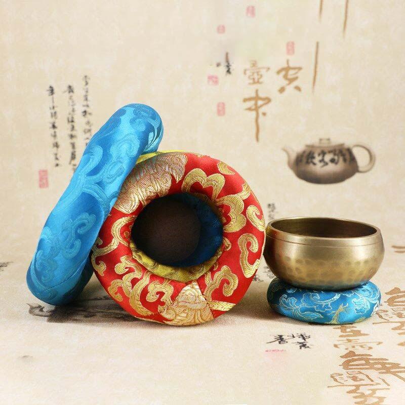 Yoga Tibetan Singing Bowl Mat Himalayan Hand Hammered Chakra Meditation Religion Belief Buddhist Supplies Home Decoration 5 Size