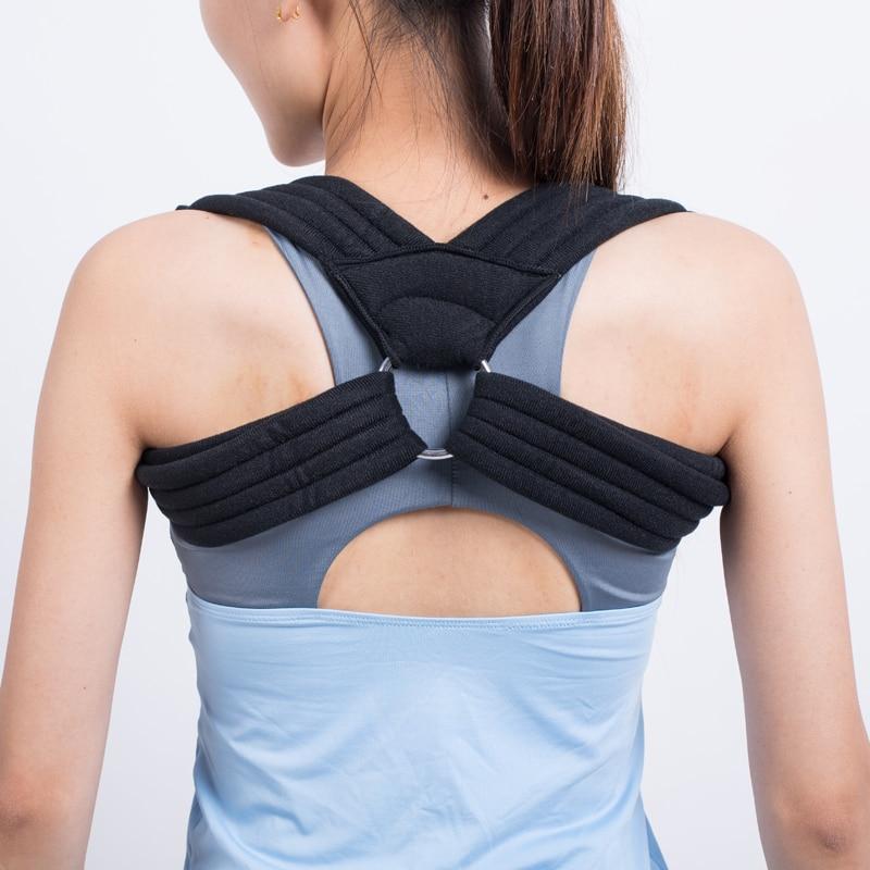 2018 직접 판매 새 도착 코르셋 자세 교정기 어깨 벨트 조절 가능 여성용 뒤로 받침대 건강 관리