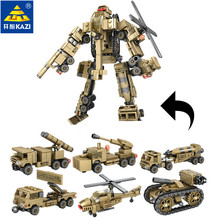 6Pcs/lot Military Helicopter Tank Building Blocks Sets Missile Gun Weapon ARMY Educational Toys for Children Christmas Gift banbao military educational building blocks toys for children kids gifts army tank weapon guns stickers