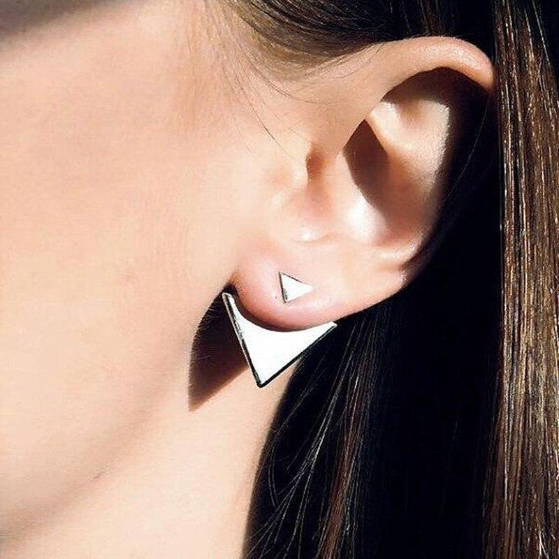 Новая мода Для женщин Треугольники Серьги Панк ювелирные изделия Серьги-гвоздики Геометрическая простой Brincos моды Pendientes Mujer