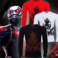 2016 New Avengers Captain America Ant-Man t Shirt Marvel hero cosplay anime cotton clothing tshirt men S-3XL