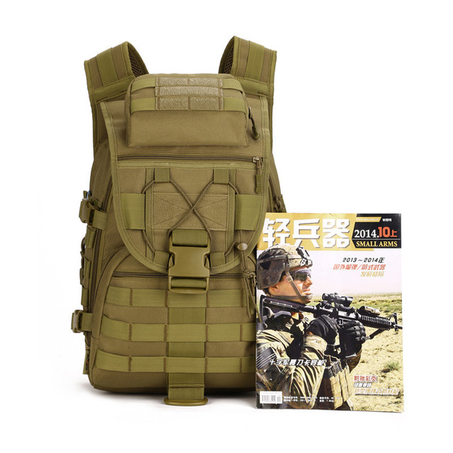 40L Waterproof Molle Backpacks Military 3P Tactics Backpack Assault Nylon Travel Bag for Men Women M108
