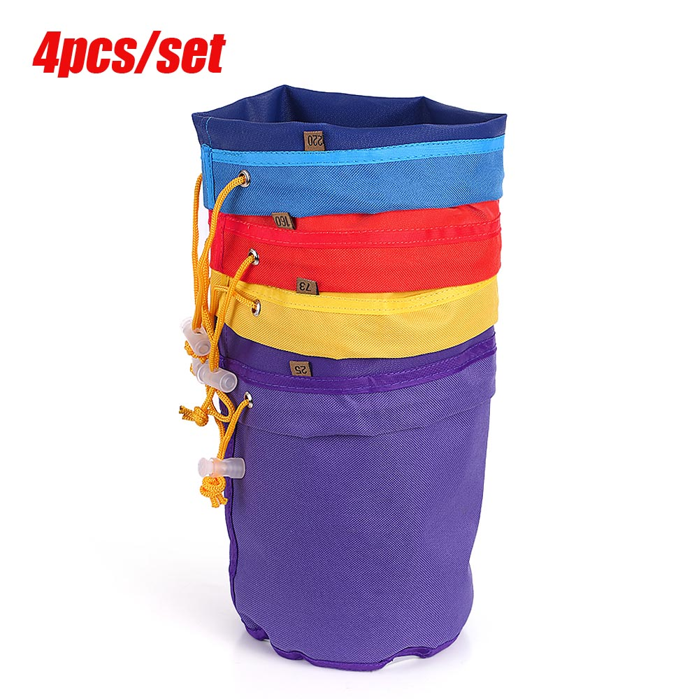 4pcs 1 Gallon Garden Grow Bag Filter Bag Bubble Bag Herbal Ice Plant Extractor Kit Micron Extraction Bags with Pressing Screen(China)