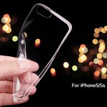 For iPhone 5S Soft Clear Cases 0.3MM Super Slim TPU Gel Silicon Phone Case For iPhone 7 6s 5S 5Ultra Thin Transparent Cover Bags