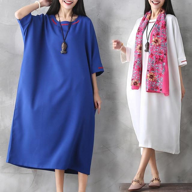 ecc7a2264d5a7 Good Quality Ethnic Style Pregnant Woman Dress Cotton Linen Spring Autumn  Loose Maternity Clothes Long Pregnancy Dress CE333