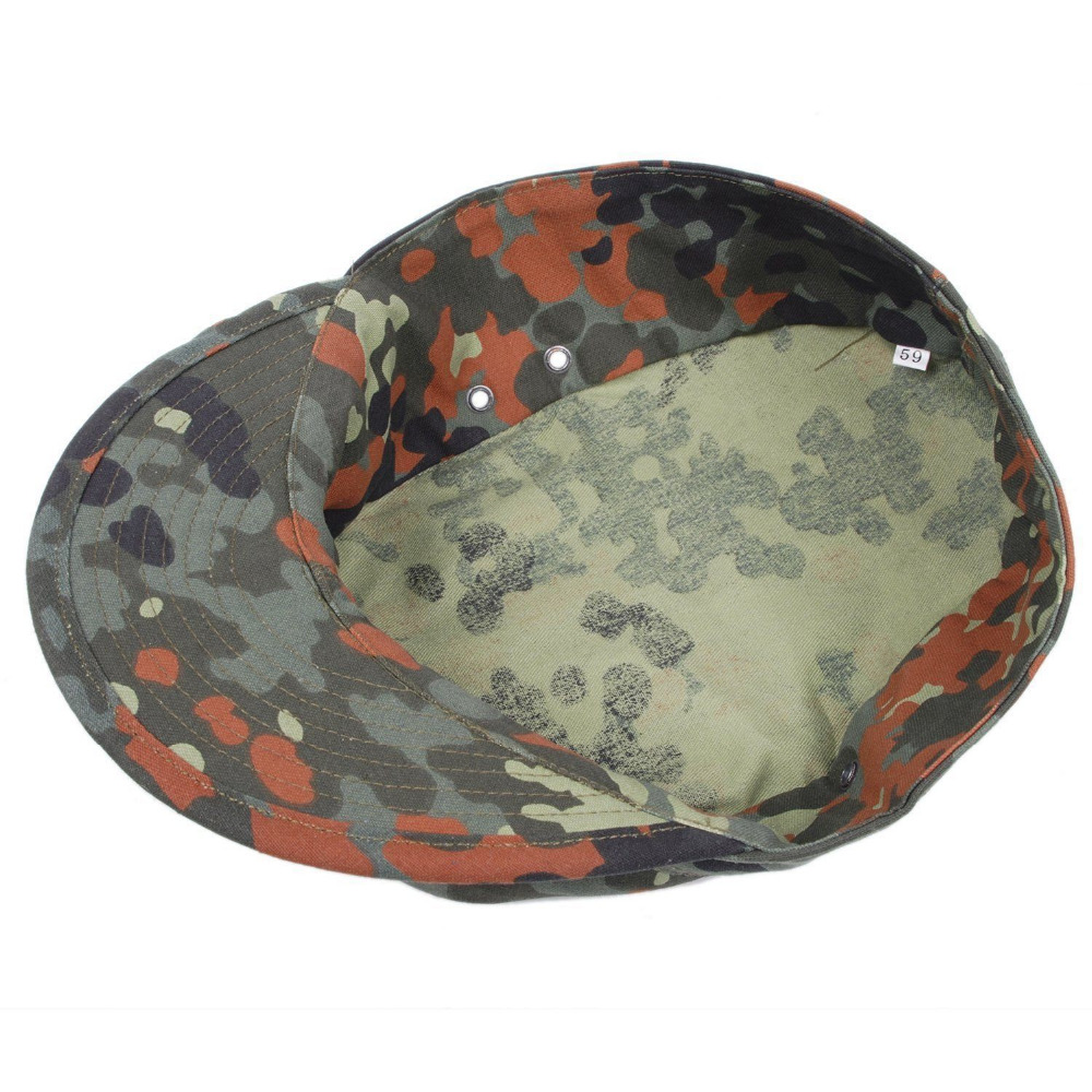 dffcf655422 WW2 GERMAN ARMY FLECKTARN CAMO MILITARY CAMOUFLAGE FIELD CAP HAT-in Hiking  Caps from Sports   Entertainment on Aliexpress.com
