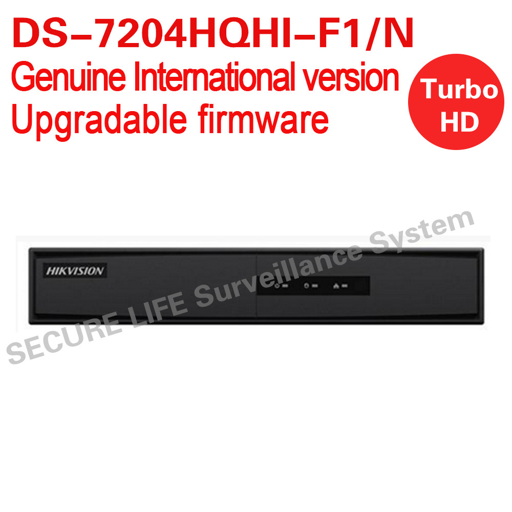 English version DS-7204HQHI-F1/N Turbo HD DVR 4ch 1080P lite mode with 1SATA ports support HD-TVI, IPC,AHD and analog cameras