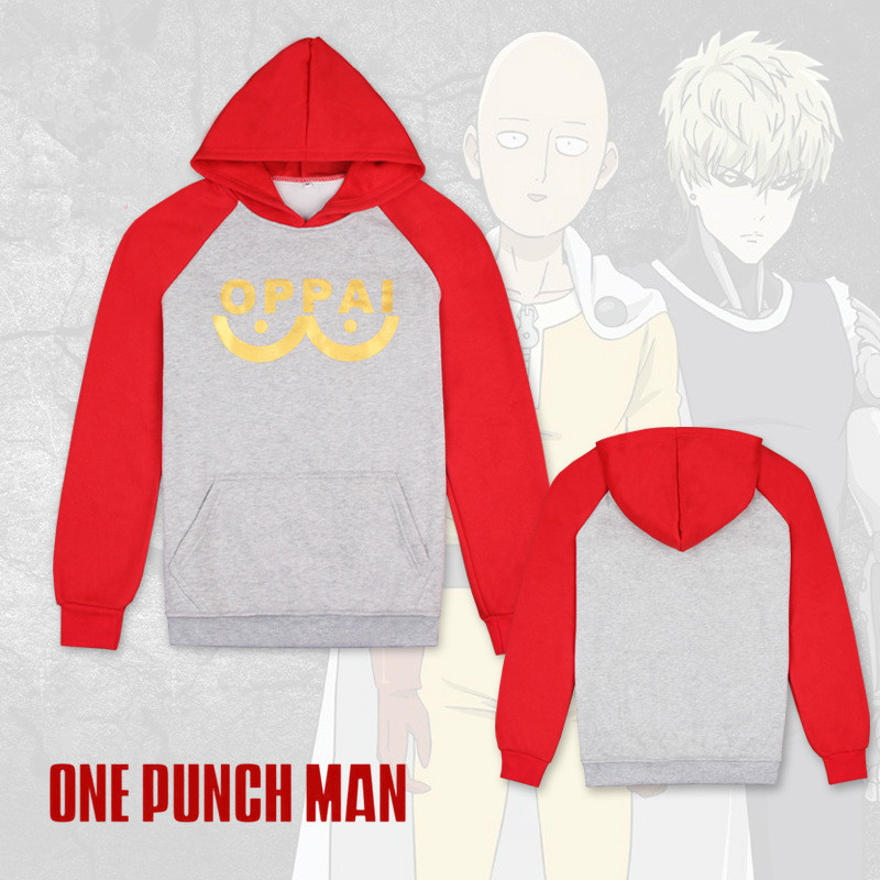 Cartoon Anime ONE PUNCH-MAN Superhero Saitama Cosplay Costume Cotton Hoodies Women Men Pullover Sweatshirts Thicken Jackets Coat