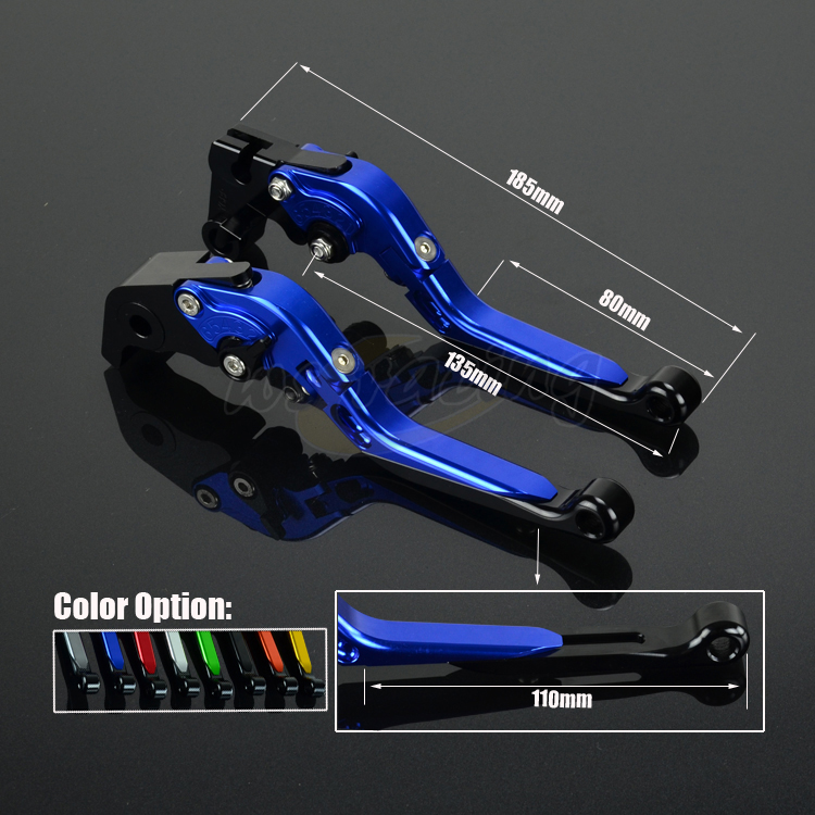 CNC Adjustable Motorcycle Billet Foldable Pivot Extendable Clutch & Brake Lever For YAMAHA YZF R6 99-04 YZF R1 FZ1 FAZER R6S cnc adjustable motorcycle billet foldable pivot extendable clutch