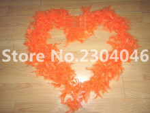 Beautiful orange 2 meters long (38-40 grams) decoration feather garment accessories wedding DIY fire feather fire tablets
