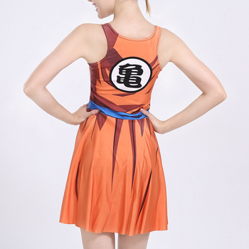 Dress Cosplay for Dragon Ball Japanese Anime Vestidos Vest Tennis Skirt BodyBuilding Fitness Ultra Instinc Women Fashion Costume 5