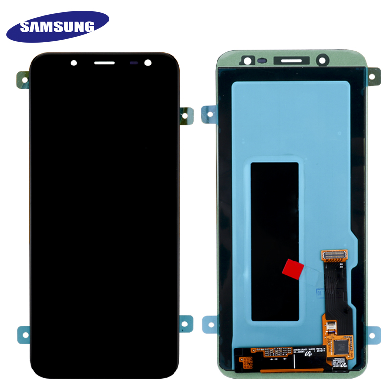 100% Original 5.6'' Super AMOLED LCD For Samsung Galaxy J6 2018 J600F J600 Display With Touch Screen Assembly Replacement Parts