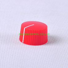 10pcs Colorful Rotary Vintage Control Plastic Red Knob 21x12mm for 6.35mm Shaft Guitar