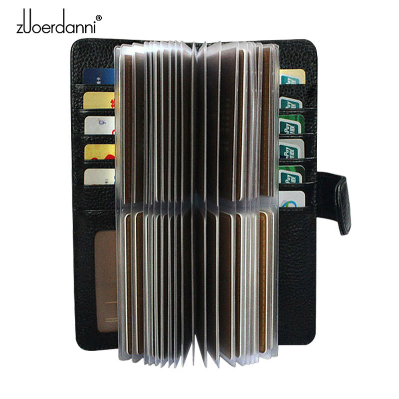 52 Slots Genuine Leather Men Business Card Holder Women Credit Card Case Bank/ID Card Bag Luxury Wallet High Quality porte carte недорго, оригинальная цена