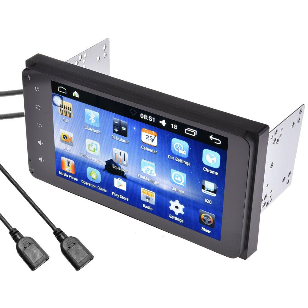 7 pouce 2DIN Bluetooth WIFI Navigateur Radio MP5 Audio Lecteur GPS Caméra de Recul RDS Quad-core Android 6.0 Pour toyota L'UE Carte