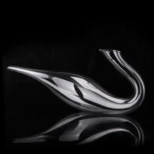 Искусственный выдувной высококачественный косой рот лебедь форма 1000 мл графин без свинца хрустальный стеклянный Европейский винный шейкер