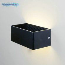 Surface Mount Wall Sconce AC85 265V 6W Warm White LED Wall Lamp Bedroom Bedside Lamp Lights