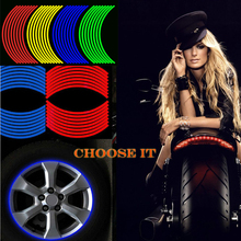 Pegatinas coloridas de 17/18 pulgadas para rueda de motocicletas, cinta reflectante para moto Rim CB500 CB600 CB750 CB900 CB1000 CB1300