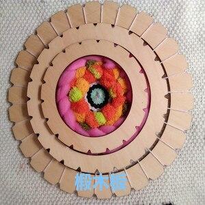 Image 4 - עגול אריגת נול כלי קרפט חינוכי עץ לארוג מכונה מסורתית עץ ילדים למבוגרים צעצוע מסגרת פיקסל סריגה צעצועים