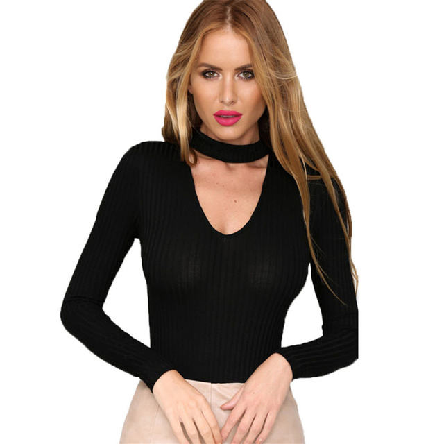 Ladies womens sexy v neck long sleeve romper playsuit jumpsuit top blouse shirt