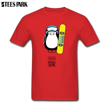 Tops Hipster Tees Hugo Snowboard Funny Penguin Tees Youth O Neck Tee Shirt 2019 New Trendy Man Grossiste T Shirt Plus Size