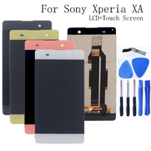 Nadaje się do Sony Xperia XA LCD digitizer komponenty dla Sony Xperia XA F3111 F3113 F3115 monitor LCD naprawa części + darmowe narzędzie