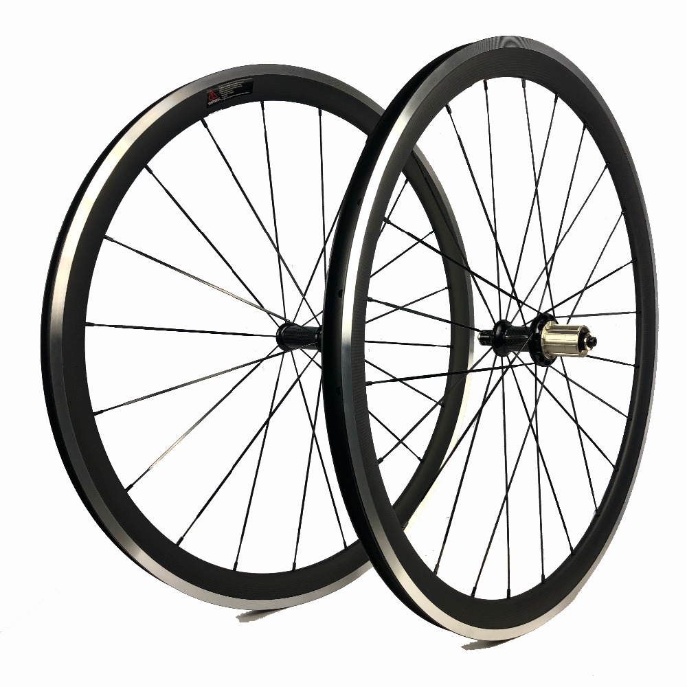 White hollow decal carbone alu 38 mm roue velo 700C 23mm wide clincher wheelset carbon alloy brake surface pro racing bike wheel(China)