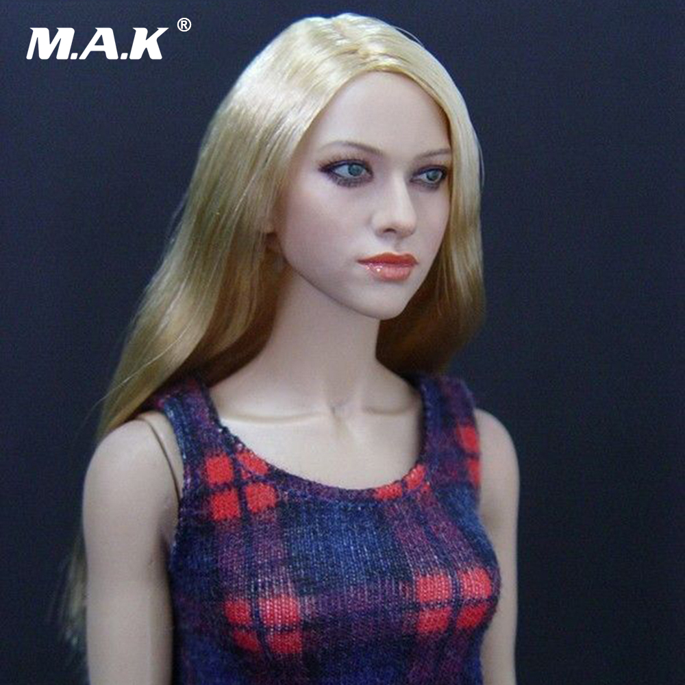 цена на 1/6 Headplay Figure Head Model Female KM-048 hair Head Sculpt Amanda Seyfried 12 Action Figure Collection Doll Toys Gift