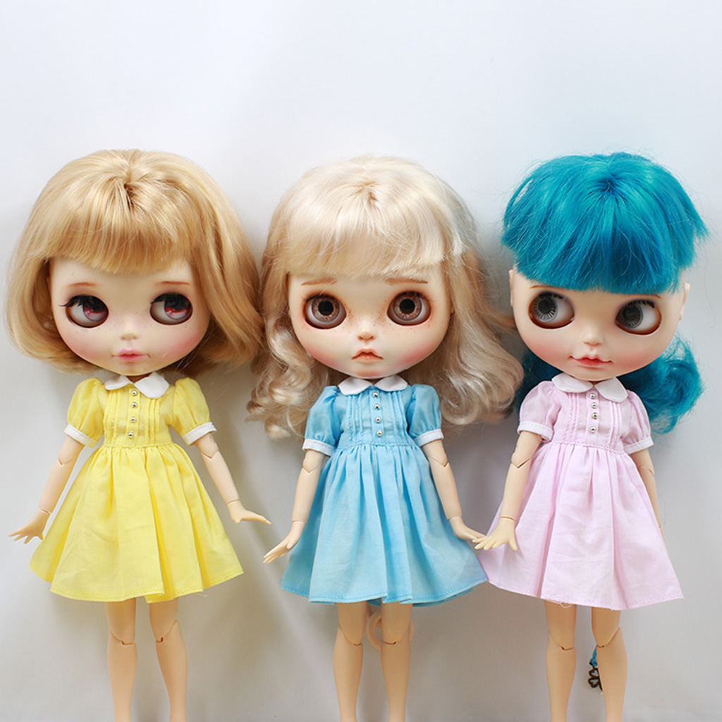 1/6 12'' Doll Lovely Fashion Costume Dress Skirt For Blythe Dolls Outfits Clothes Accessories For Kids Dressing The Dolls