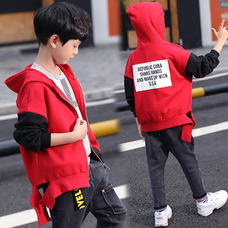 Hooded Children's Jackets Kids Coats Boys Bomber Jacket Spring Autumn Baby Boys Windbreaker Boys Outerwears