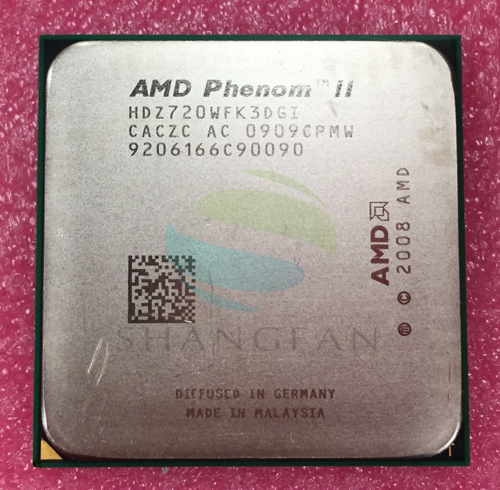 AMD Phenom X3 720 2.8 GHz Triple-Core CPU Processeur HDX720WFK3DGI HDZ720WFK3DGI Socket AM3 938pin
