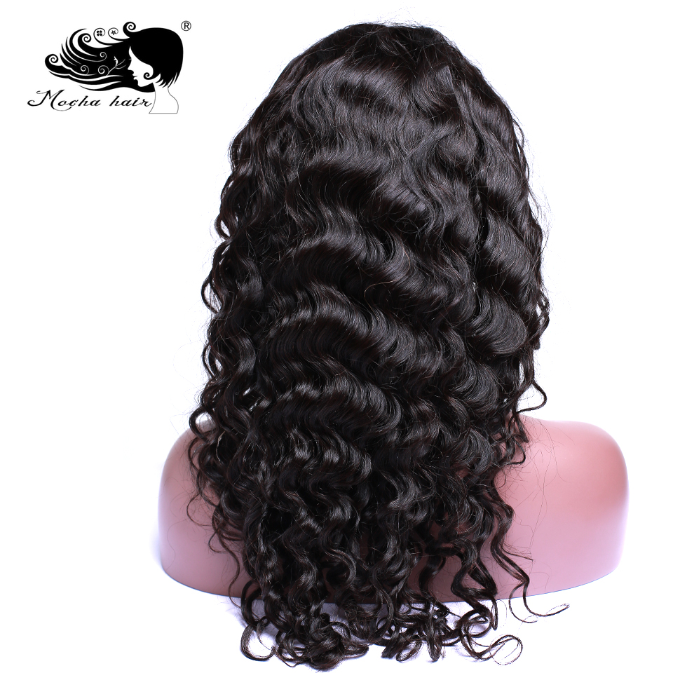 Mocha Hair Human Hair Deep Wave Lace Front Wigs Pre Plucked Natural Hairline With Baby Hair