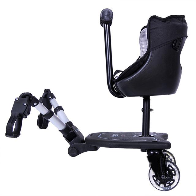Cochecito de bebé carro de accesorios pedal cesta emperorship asiento de bebé gemelo gemelos cochecito de bebé cochecito de bebé de pie palte de contacto