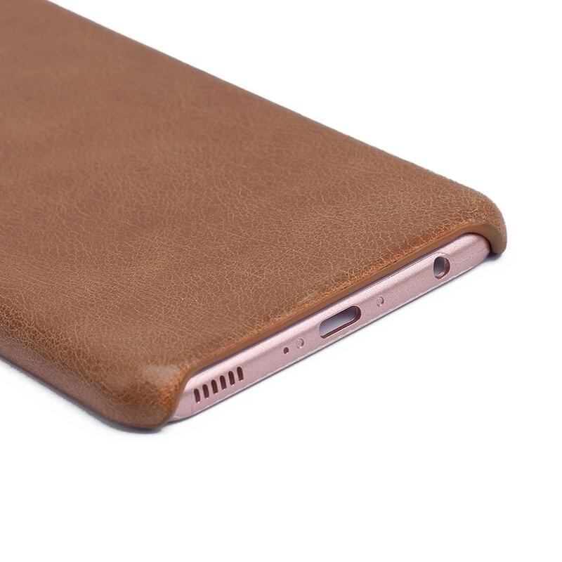 Äkta läderfodral till Huawei P10 Plus fodral Frostad bakomslagskydd - Reservdelar och tillbehör för mobiltelefoner - Foto 5