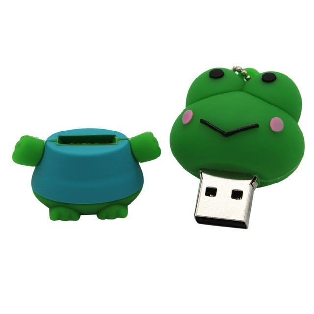 Cute cartoon animal frog usb flash drive USB Flash Drives