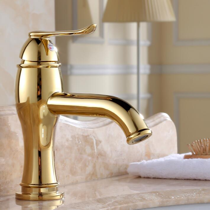 Free Shipping bathroom faucet Gold bathroom basin faucet ,Luxury basin sink faucet basin mixer High Quality Luxury water tap fashion high quality brass bathroom widespread basin faucet double handle gold plating sink faucet free shipping