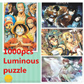 1000pcs Luminous paper puzzle cartoon anime jigsaw,education learning,movie hero gift for friends kids adult children boys girls