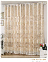 Versailles Soluble Grade Gold Velvet Curtain Embroidered Openwork Embroidery Living Room Luxury