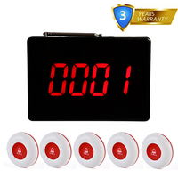 Daytech Wireless Calling System Restaurant Pager Table Bells Call Buttons Restaurant Service Waiter Service Calling Fast Arrival arrival -