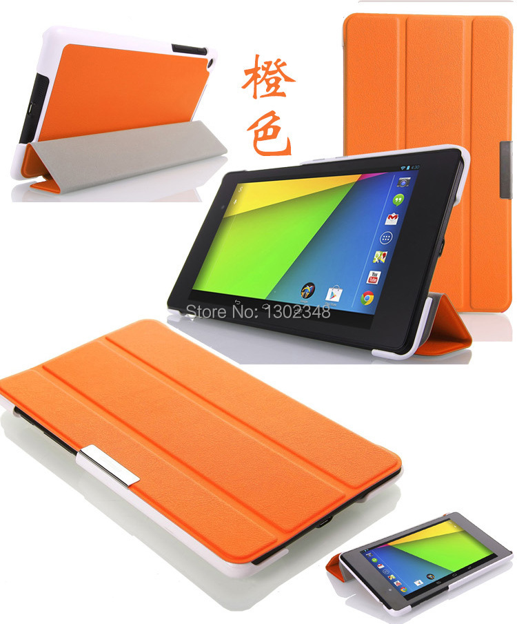 Ultra Slim Smart Case For Asus Nexus 7 2013, Magnetic Fold Stand Leather Skin Shell Cover Case For Google Nexus 7 2 FHD2 2nd Gen