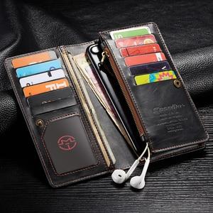 Image 1 - For Xiaomi Mi Note 10 Case Xiomi Mi CC9 Pro Genuine Leather Wallet Cover For Mi Note10 Pro Xiaomi Mi Note 10 Pro Case Fundas