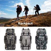 70l Large capacity Camouflage Tactical Multi function Outdoor Hiking Backpack Casual Backpack Designed With Air Cushion Strap