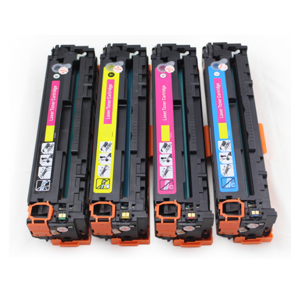 4 Pack  CE320A CE321A CE322A CE323A Toner Cartridges Fits Compatible for HP LaserJet CM1415 CM1525 CE320A new for hp color laserjet cm1415fn mfp cm1415fnw low price for hp ce320a ce321a ce322a ce323a bottle toner powder refill kit