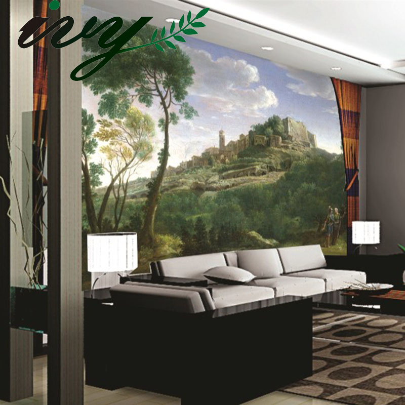 Chinese Style Landscape Wallpaper 3D papel de parede 3D Wall Paper Mural Sofa Background Living Room Customized Wall paper Walls картридж epson t6641 c13t66414a black для l100 l200 l366 l312 l120 l222