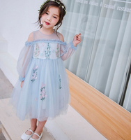 2019 New arrival summer Girl dress Party Sweet Children Fashion Elegant Girls Princess Kids Clothing European style clothing