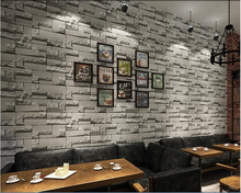 beibehang 3d imitation brick bricks non - woven wall paper wallpaper coffee shop retro papel de parede papier peint