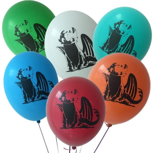 How To Train Your Dragon 10pcs Balloon Black Dragon Toothless Ball Birthday Party Babyshower Boy Theme Hero Decorative Toy Favor